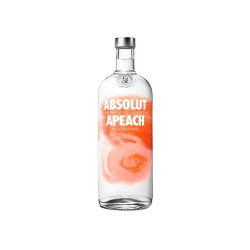 Botellita Vodka Absolut sabores Apeach