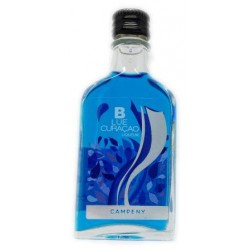 Mini botella Licor Blue Curaçao Campeny