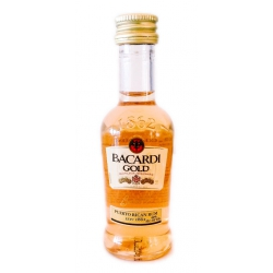Botellita Ron Bacardi Gold