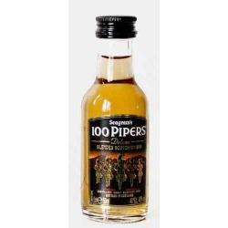 Botellita miniatura whisky 100 pipers