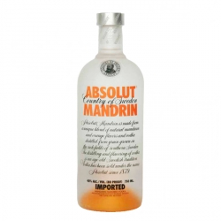 Mini botella Vodka Absolut Mandrin