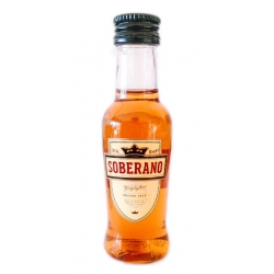 Mini botella Brandy Soberano