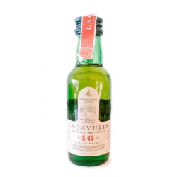 Botellita Miniatura Whisky Lagavulin 16 años