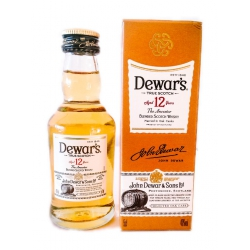 Mini botella Whisky Dewars 12
